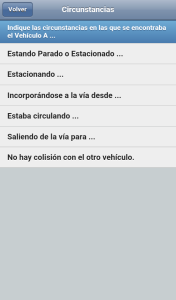 Circunstancias accidente app idea