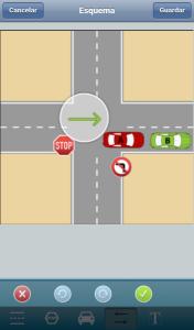 Croquis accidente app idea