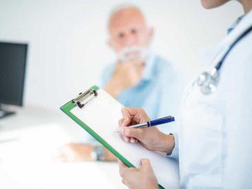 Visita del perit metge de la companyia d'assegurances